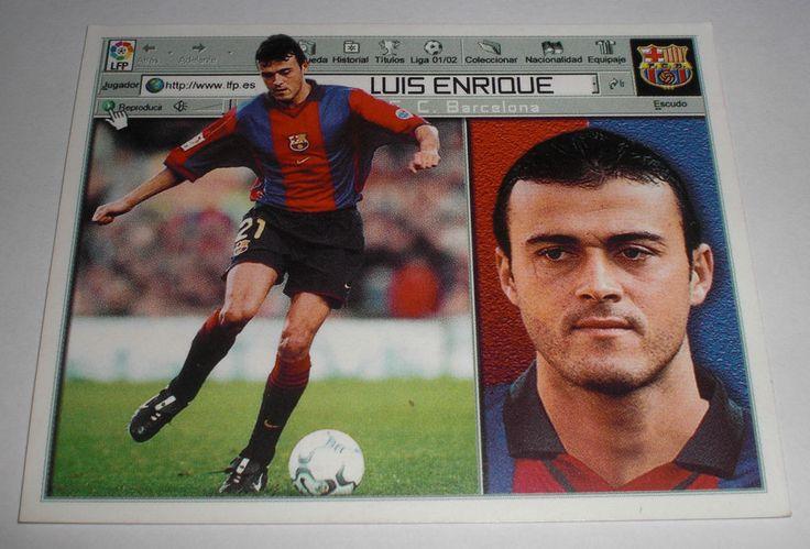 CROMO FUTBOL CLUB BARCELONA LUIS ENRIQUE(SIN PEGAR)LIGA LFP ESTE 2001-2002/01-02
