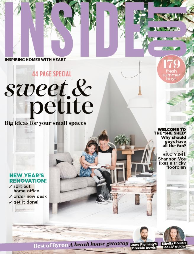The cover of the January 2018 issue of Inside Out. Available from newsagents, Zinio, https://au.zinio.com/magazine/Inside-Out-/pr-500646627/cat-cat1680012#/  and Nook.