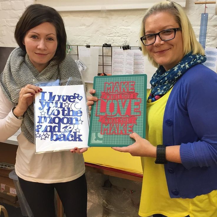 Yay! Well done Stacy and Hayley! They entered and won the  @notonthehighstreet competition to win a workshop for two.  #workshop #papercutting #learnsomethingnew #papercutworkshop #wimborne #kyleighspapercuts #livecreatively