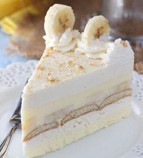 Nepečený banánový dort s piškoty | NejRecept.cz