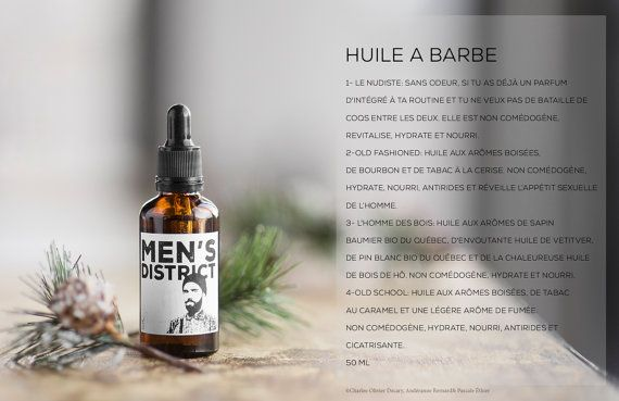 BEARD OIL  Beard oil is a must for a mens beard. Whether you have a short beard or a ZZ Top type of beard, you need it . Beard oil revitalizes , hydrates and nourishes your hair as well as your skin. It helps prevent beard flakes, which is what we call dandruff for your beard, and which we'd all like to avoid at all costs. Your hair will be softer and more manageable. You will be irresistible to your partner! On top of that? It smells awesome! You have a choice of four variations of…