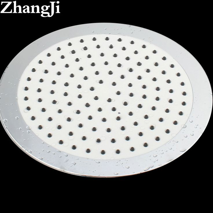 Hot Ultrathin Big Rainfall Shower Head Water Saving Quality Silica Gel Holes High Pressure Shower Head Waterfall ZJ022 #Affiliate