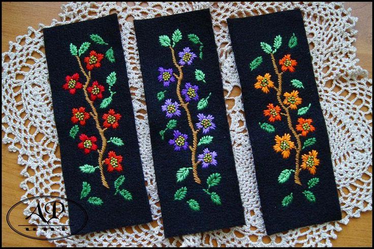 apuni - moje hobby - rękodzieło: Trzy nowe bransoletki haftowane