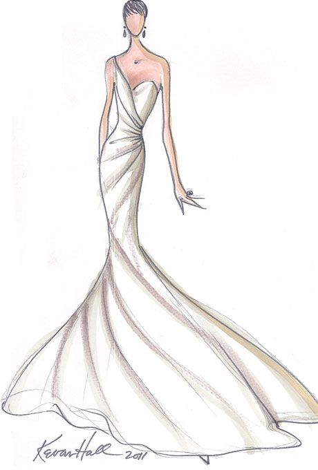 Brides: Designer Fantasy Sketches: Kim Kardashian's Wedding Gown | Wedding Dresses and Style | Brides.com