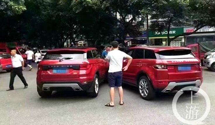 Китайский клон Range Rover Evoque врезался в настоящий «Эвок»