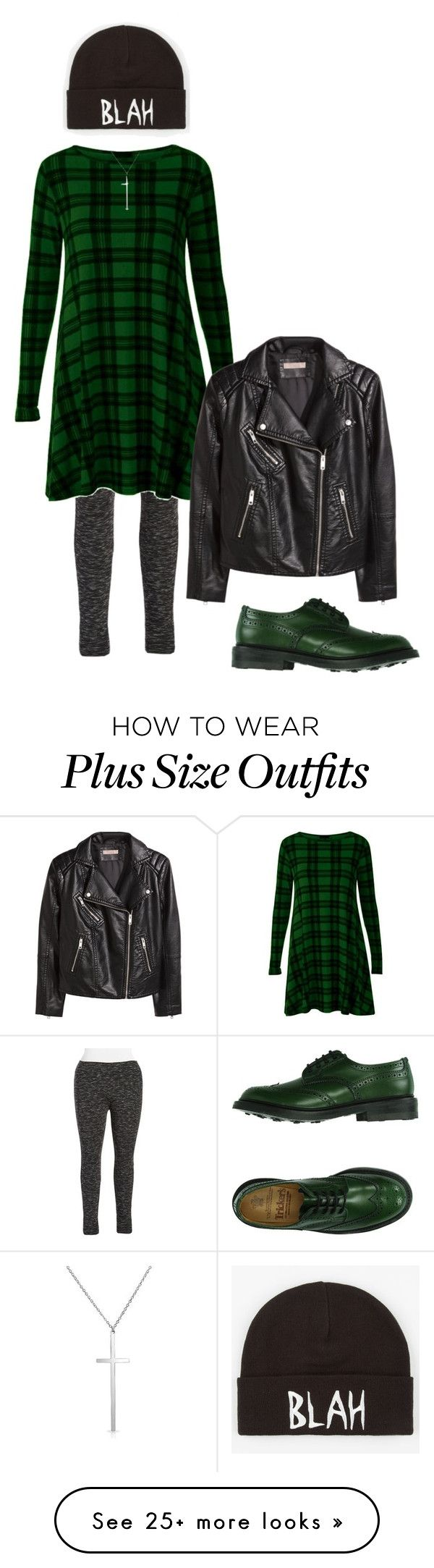 """""""Blah"""" by perpetto on Polyvore featuring Marc New York, H&M, Tricker's, Volcom, Bling Jewelry and plus size clothing"""