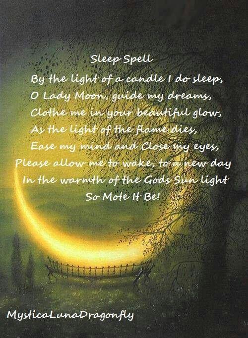 Sleep Spell | Book of Shadows )O( | Pinterest | Sleep