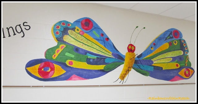 17 best images about school library redesign on pinterest for Eric carle mural