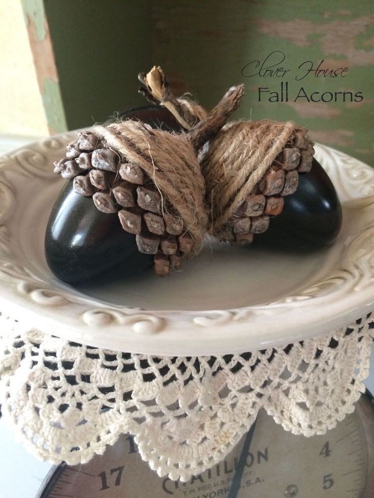 DIY Fall Acorns Using Plastic Eggs