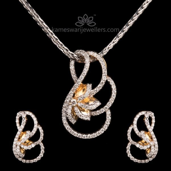 26377e00fe98eb Curved Beauty Diamond Pendant Set | micro inspirations | Diamond ...