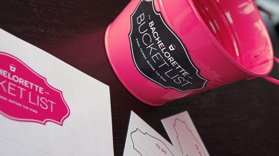 Bachelorette Bucket List Printable Game by FinalNightofFreedom