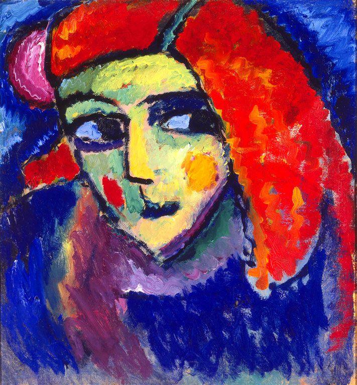 Алексей фон Явленский «Бледная женщина с рыжими волосами»