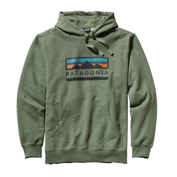 Patagonia Men\'s Tres Peaks Midweight Hooded Pullover Sweatshirt - Camp Green CMPG