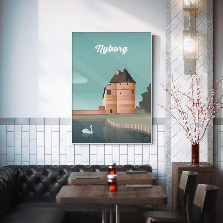 Nyborg Plakat #byplakat #design #danmark #dansdesign #danish #illustration #graphicart #artwork