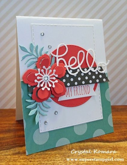 Stampin' Up! Hello my friend card
