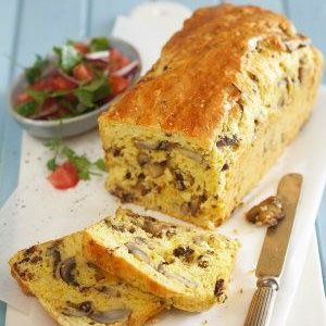 Mushroom, biltong and cheddar loaf
