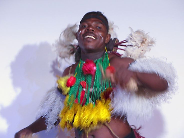 A member of the traditional dance group, Ballets Lionceaux, at Lome, Togo.