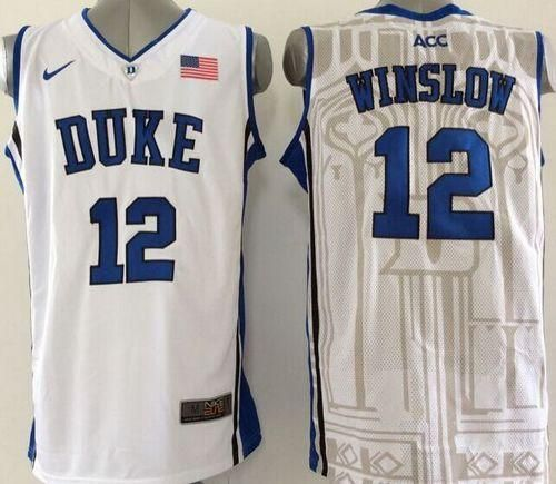 780a38064db ... official blue devils 12 justise winslow white basketball new stitched  ncaa jersey 92ae0 dda68