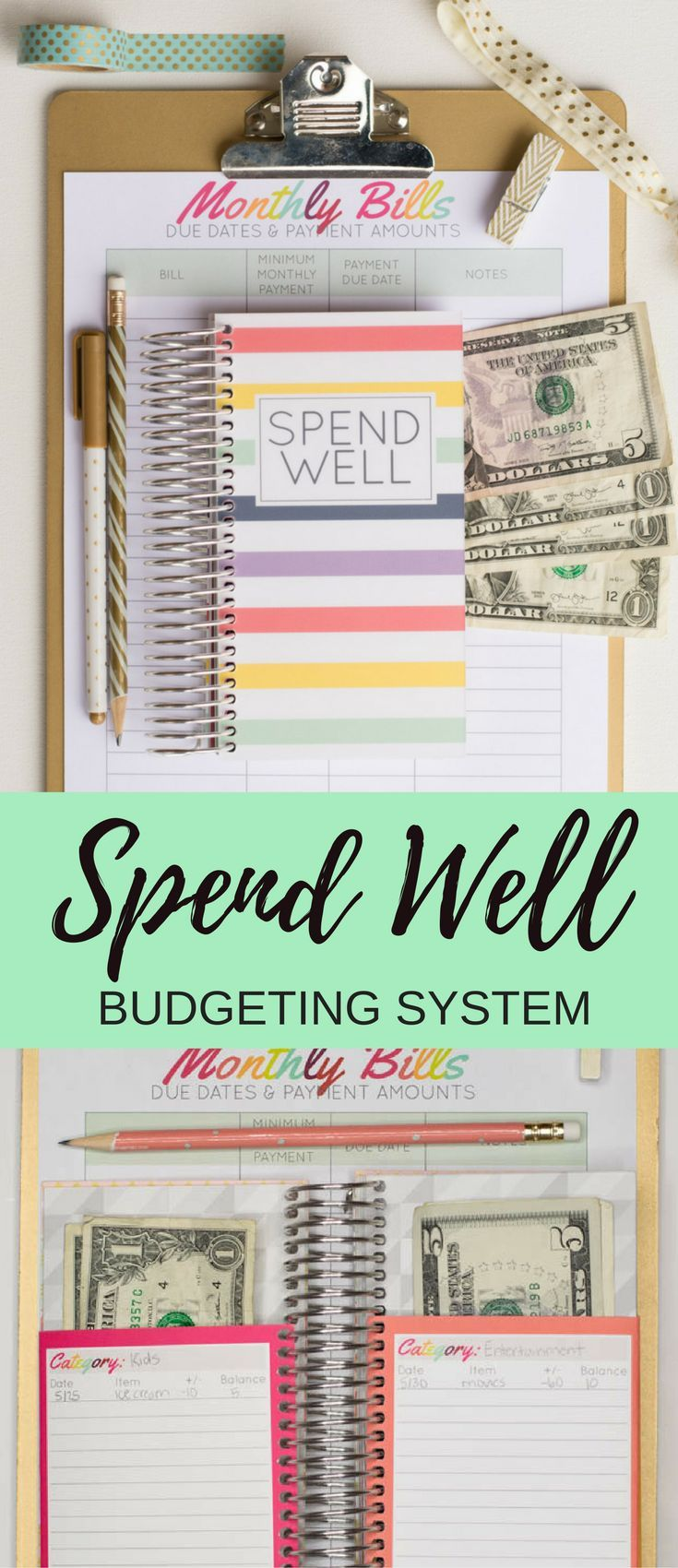 On Etsy $25. Get your finances under control with the Spend Well Budgeting System. This cash envelope system will help you organize your cash and make sticking with your budget easier than ever (and way more fun, too!). #budgeting #daveramsey