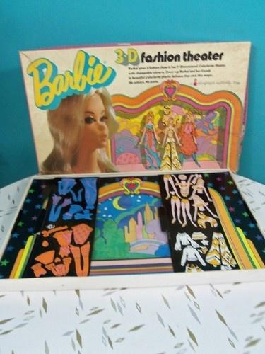 Vintage 1972 Barbie Doll Colorforms 3 D