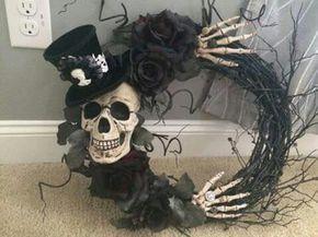 Cheap diy skull wreath