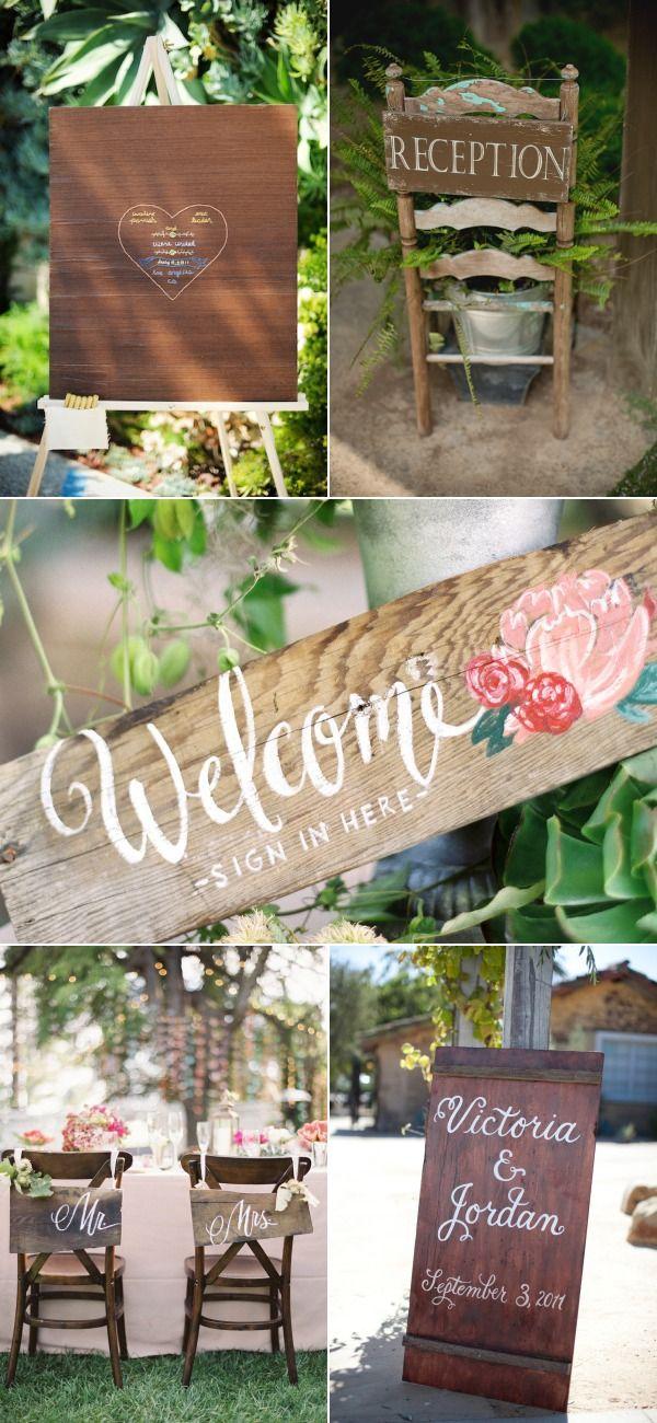Carteles de madera para tu boda