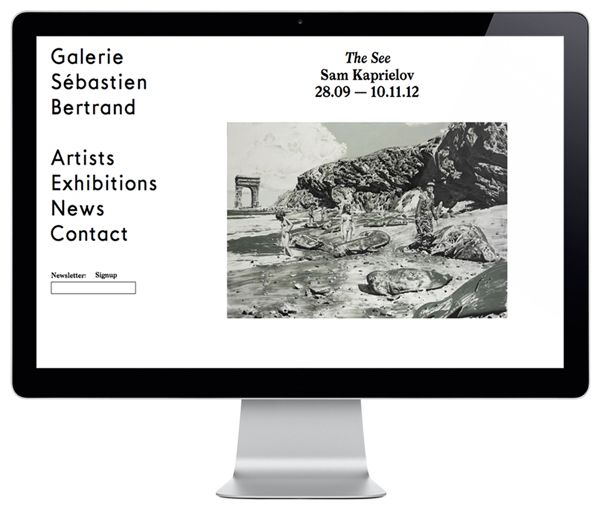 Logo and website designed by Neo Neo for Sébastien Bertrand contemporary art gallery.