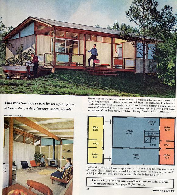 vacation cabin 1959 better homes - 1959 Home Design