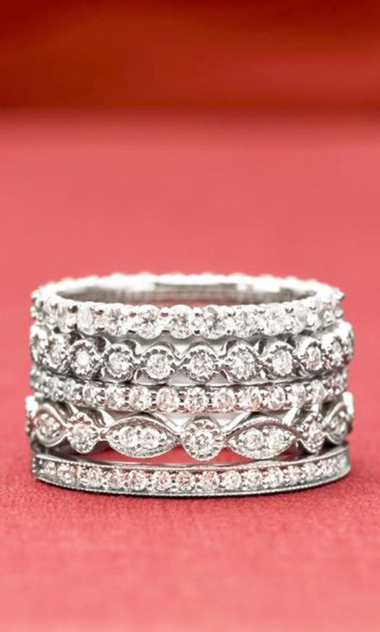 Stacked band design, so classy!