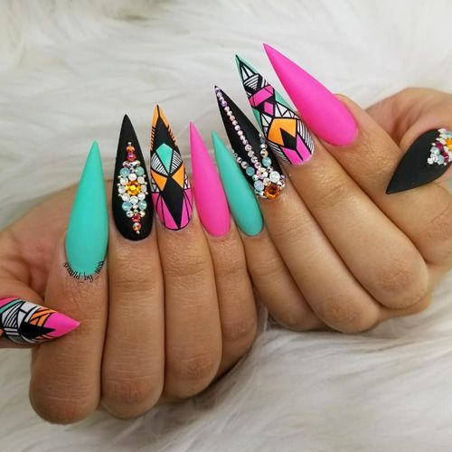 Best Nail Art – 55 Best Nail Art for 2018 – Fav Nail Art