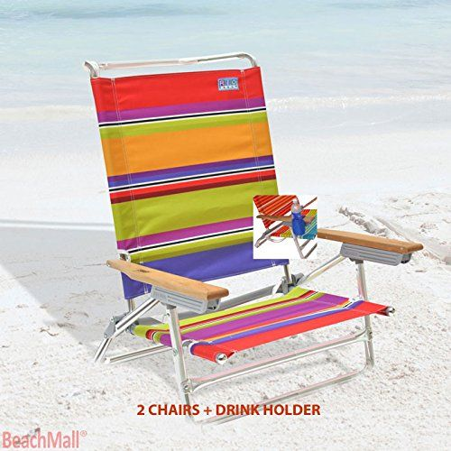 High Back Rio Beach Chair - 5 position LayFlat - Set of 2 Chairs >>> Visit the image link more details.