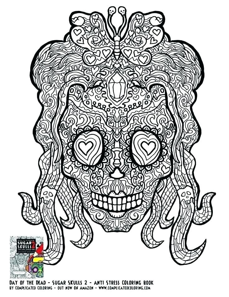 Christmas Coloring Page Printable Hard Coloring Pages Difficult Complicated Free Printable P Skull Coloring Pages Heart Coloring Pages Halloween Coloring Pages
