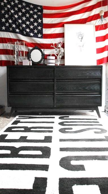 = Flag, Liberty and Justice rug = USA