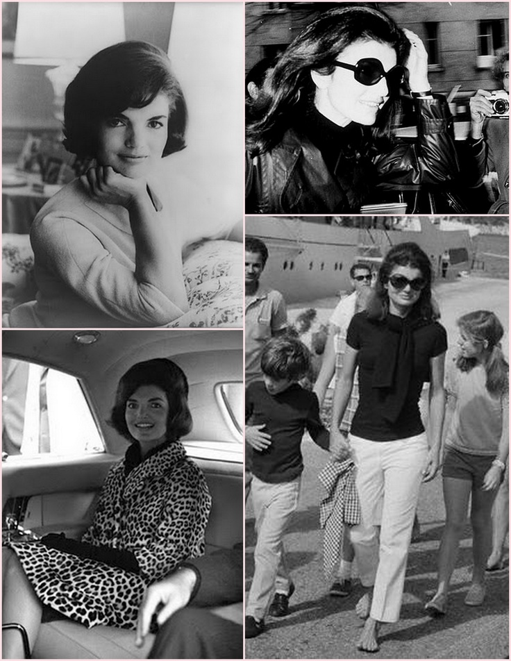 Jackie O. A second set of images since I really like each of these, but the one of her with her hair in her wind is my favorite.
