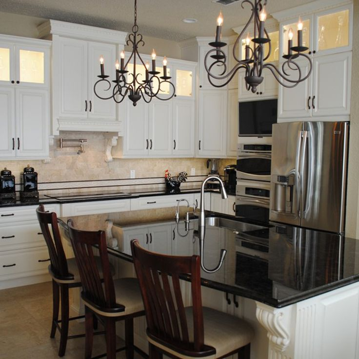 loving the light fixtures in this kitchen project by the at leverette home design center