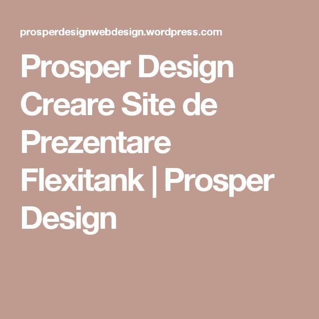 Prosper Design Creare Site de Prezentare Flexitank | Prosper Design
