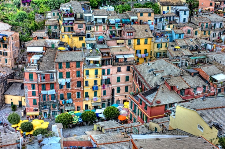 I want to go to there.: Cinque Terre, Color Town, Jigsaw Puzzles