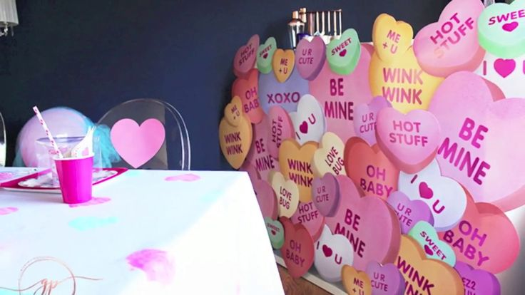 Valentines Day Party Ideas- DIY Heart Tablecloth