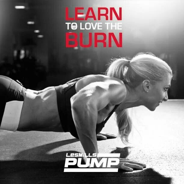 Earn your burn! Les Mills PUMP! I loooove BodyPump, and I'm so upset that the Shellbank FC doesn't have it :( I'll just have to invest in the home version for when I go back to VA.