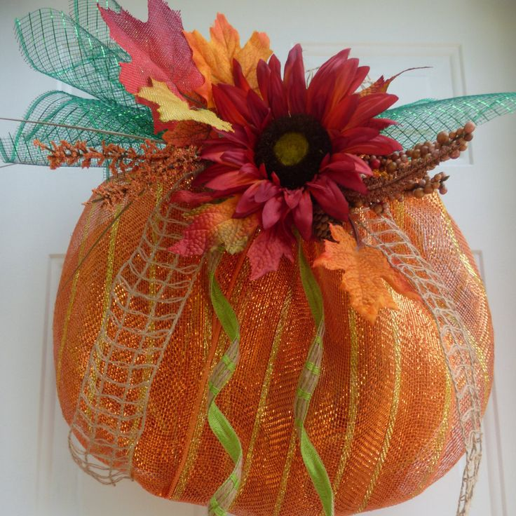 Fall Deco Mesh Wreath/Fall Wreath/Fall Mesh Wreath/Autumn Deco Mesh Wreath/Thanksgiving Wreath/Pumpkin Wreath/Fall Door Wreath/Pumpkin Decor by OneofaKindWreath on Etsy