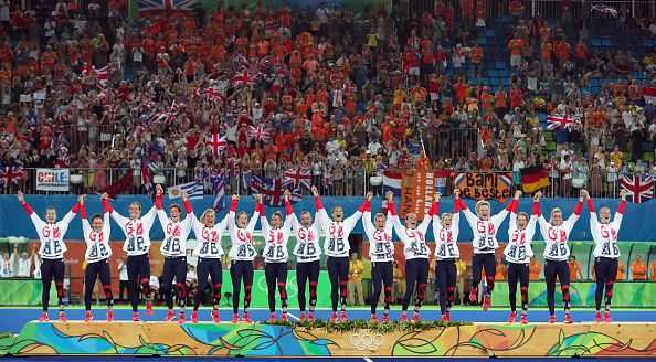 Team GB's women's hockey team are Olympic champions