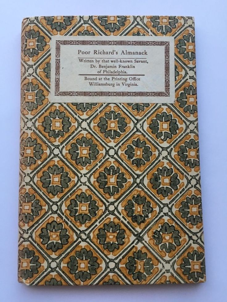Poor Richard's Almanack by Dr. Benjamin Franklin, Hardcover