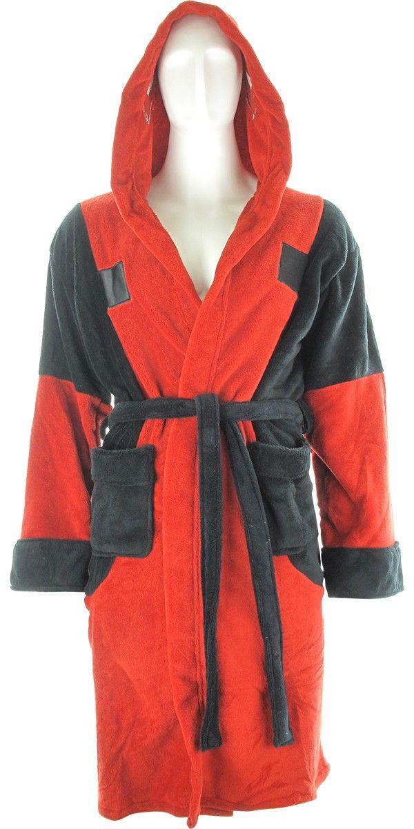 Deadpool Symbol Fleece Hooded Robe