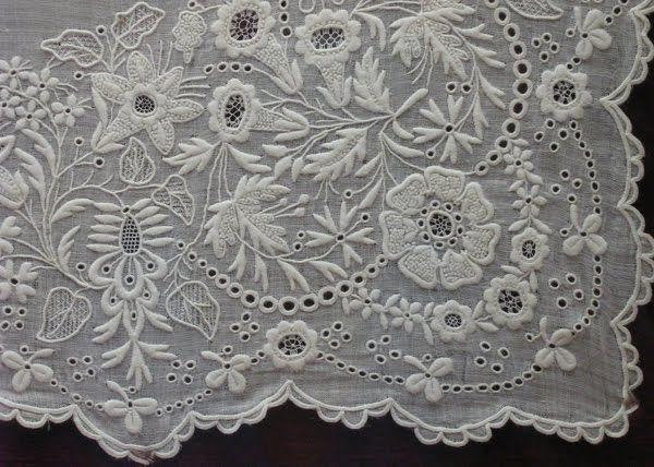 Exquisite whitework from  Italian Needlework blog: Fine Italian Whitework