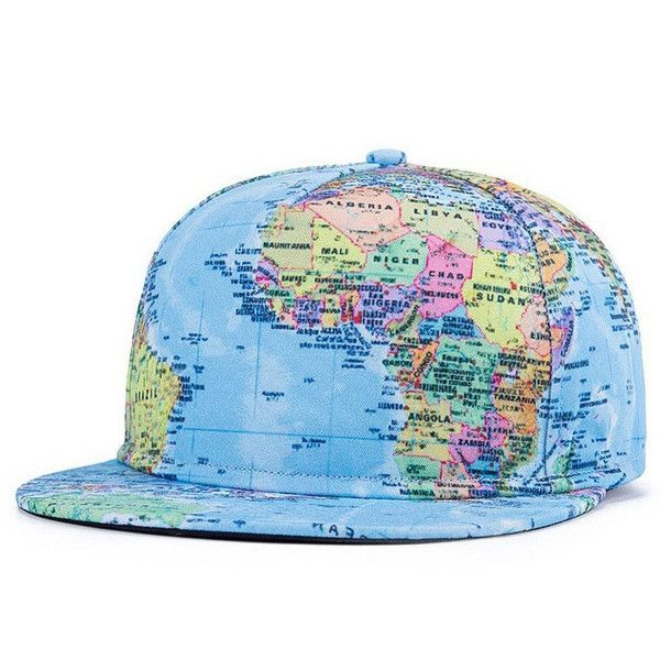 World Map Snapback Hat