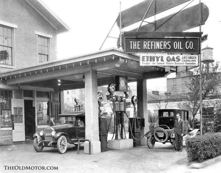 Old Vintage Gasoline Station