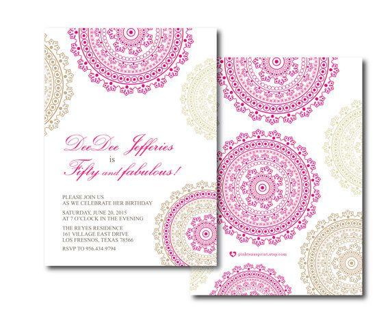 Etsy の ボリウッドの誕生日のお祝い インドのヘナの華やかなデザイン by PinkTexasPrint
