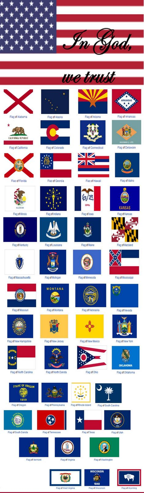 America, the Beautiful: The United States of America State Flags #infographic