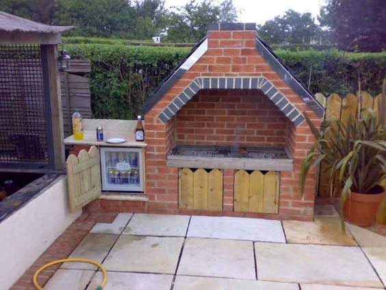 how to build a brick bbq with chimney