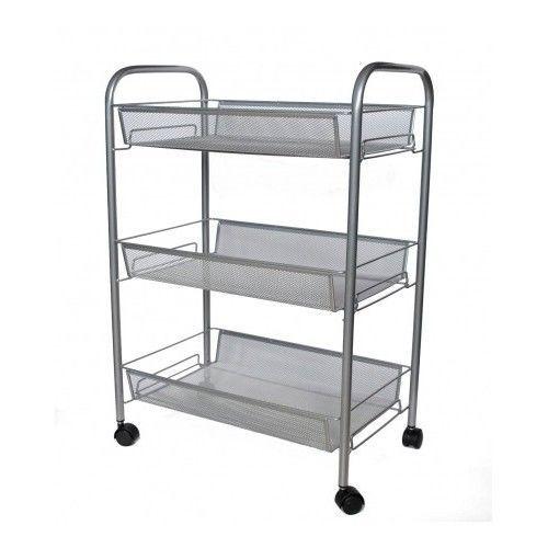 Kitchen-Storage-Trolley-Shelf-Rolling-Stand-Rack-Wheel-Basket-Shelving-Cart-Unit